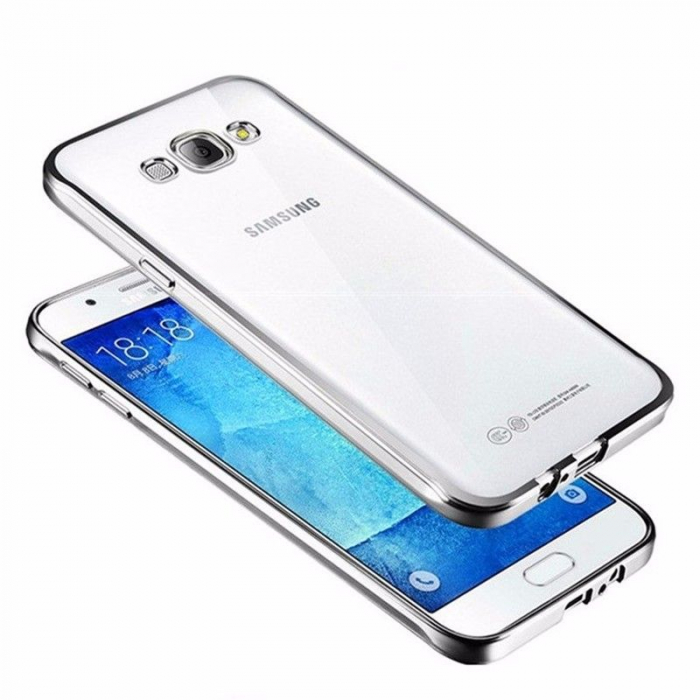 Husa  Samsung Galaxy J5 2016 Silicon TPU Plating Ultra Thin - argintiu 0