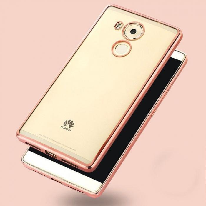 Husa Silicon TPU Plating Ultra Thin Huawei Mate 8 - rose gold  4