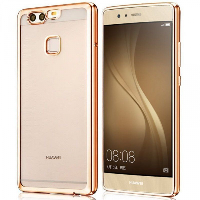 Husa Silicon TPU Plating Ultra Thin Huawei P9 - gold 0