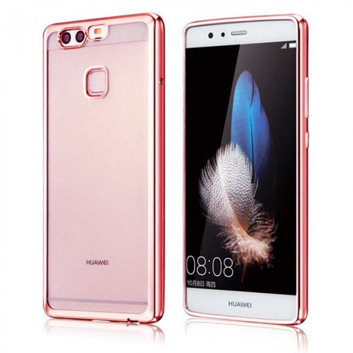 Husa Silicon TPU Plating Ultra Thin Huawei P9 - roz 0