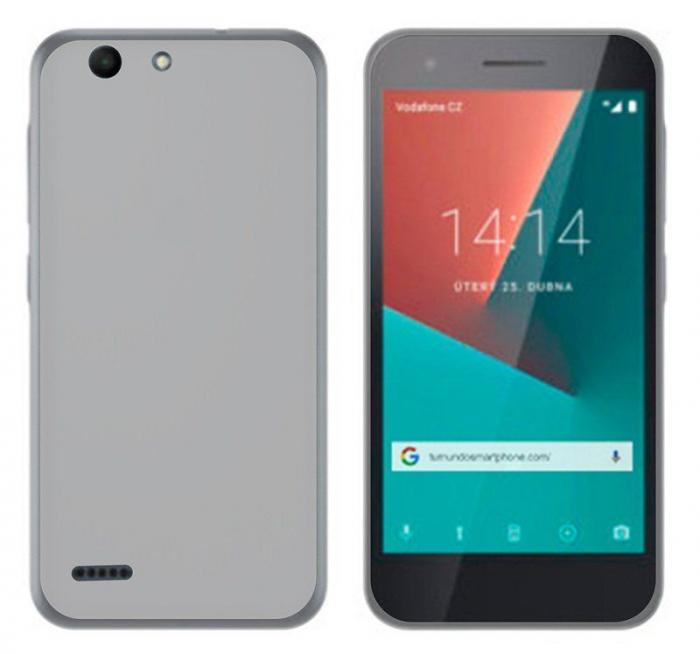 Husa silicon TPU Vodafone Smart E8 - semitransparent 0