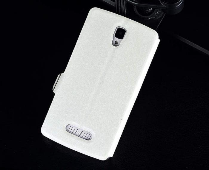Husa Lenovo A2010 Silk stil carte - alb 1