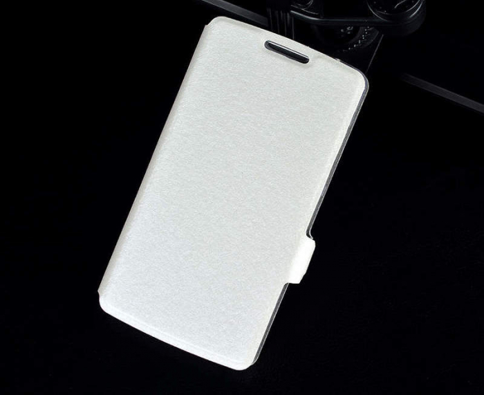 Husa Lenovo A2010 Silk stil carte - alb 3