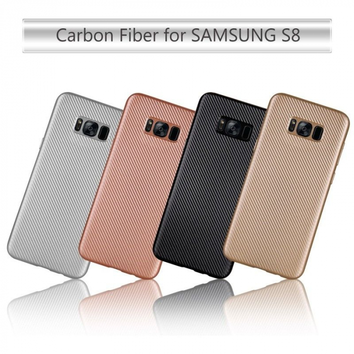 Husa Slim Tpu Carbon Samsung Galaxy S8 - auriu 7