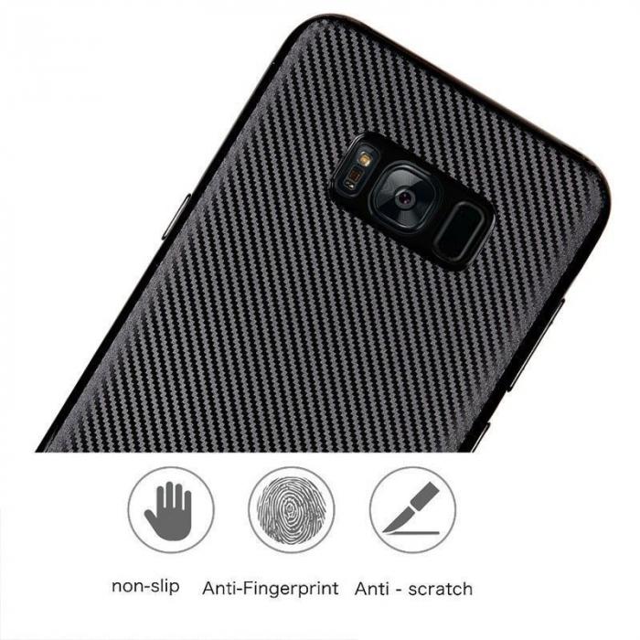 Husa Slim Tpu Carbon Samsung Galaxy S8 - auriu 5