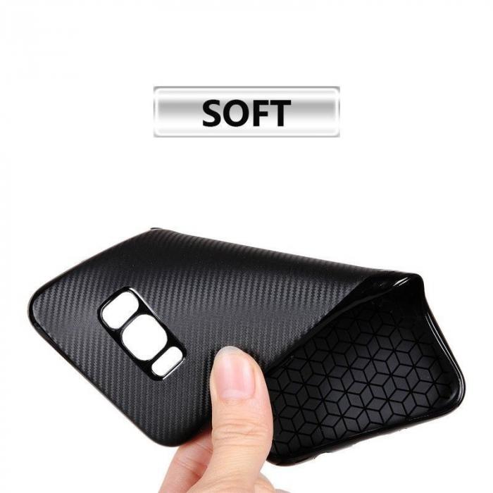 Husa Slim Tpu Carbon Samsung Galaxy S8 - auriu 3