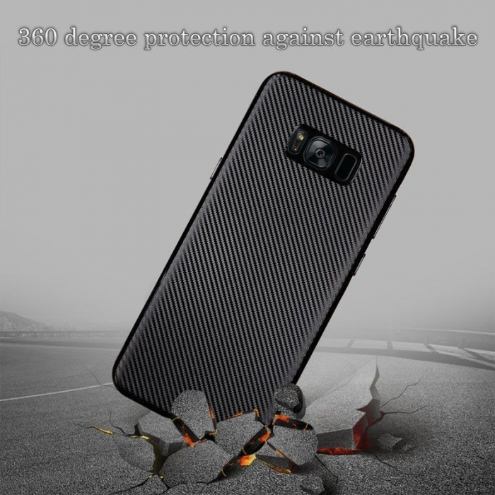 Husa Slim Tpu Carbon Samsung Galaxy S8 - auriu 2