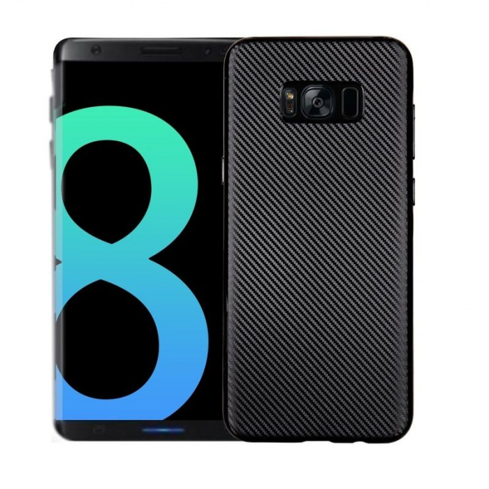 Husa Slim Tpu Carbon Samsung Galaxy S8 - negru [0]