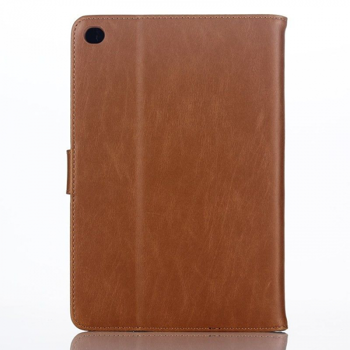 Husa iPad Mini 4 Stil Carte Piele Eco - maro 0