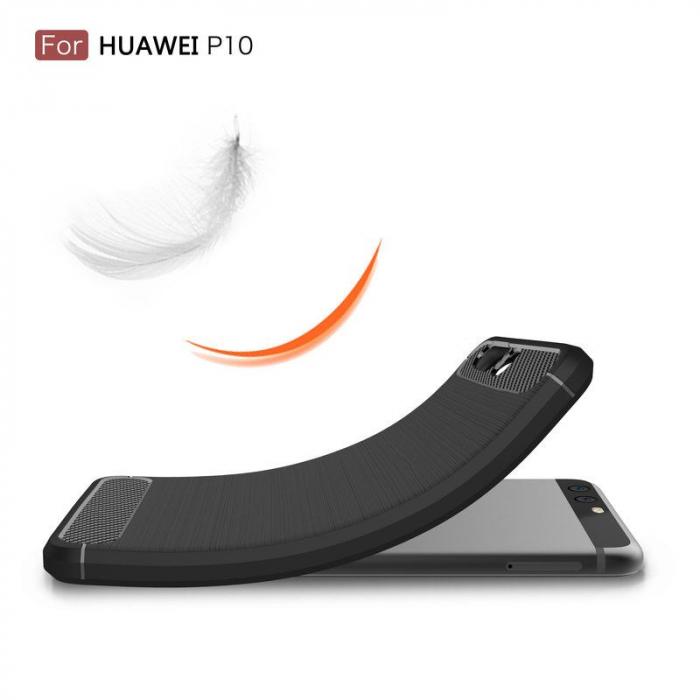Husa  Huawei P10 Carbon Fibre Brushed - rosu 7