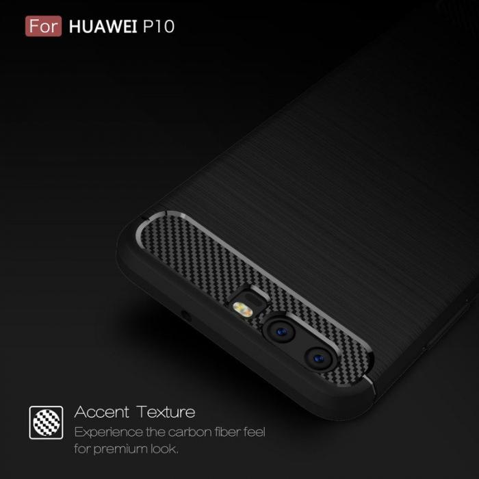 Husa  Huawei P10 Carbon Fibre Brushed - rosu 6