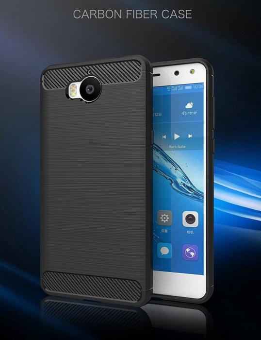 Husa  Huawei Y6 2017 Tpu Carbon Fibre Brushed - negru 1