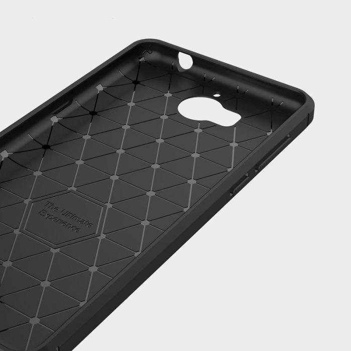 Husa  Huawei Y6 2017 Tpu Carbon Fibre Brushed - negru 3