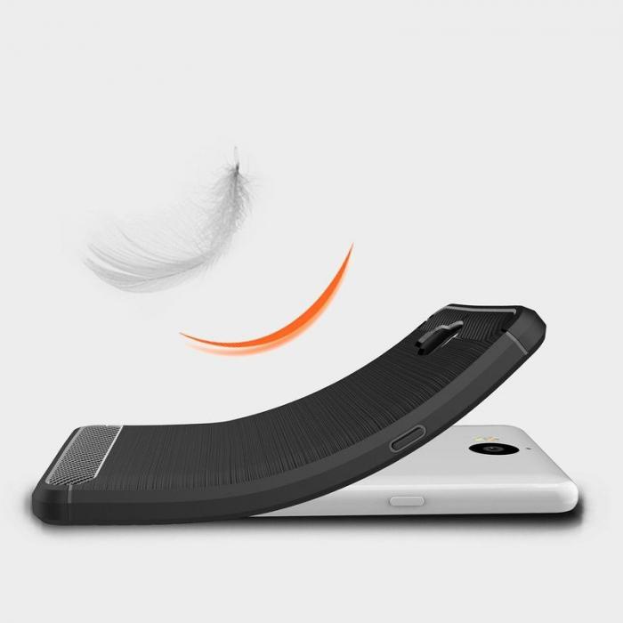 Husa  Huawei Y6 2017 Tpu Carbon Fibre Brushed - rosu 2