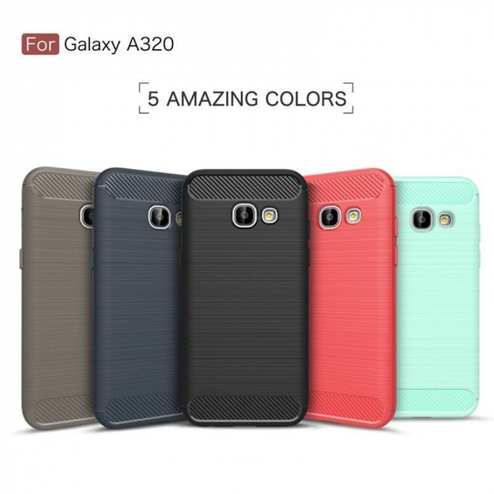 Husa Tpu Carbon Fibre Brushed Samsung Galaxy A3 2017 (A320) - negru 10