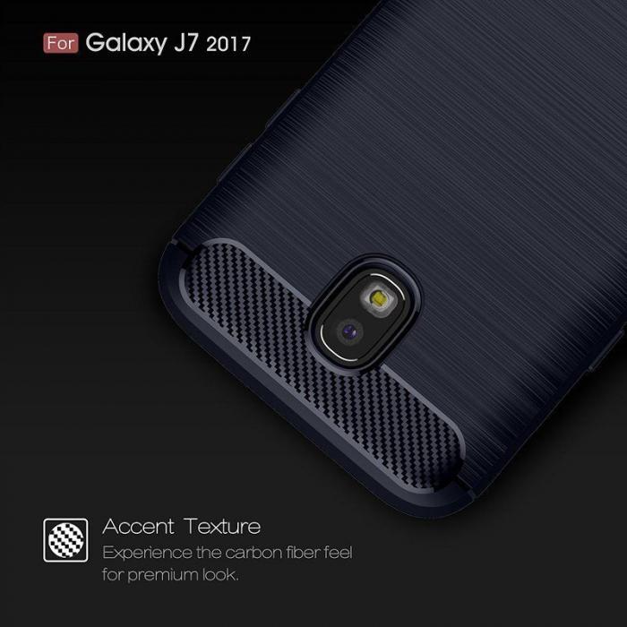 Husa  Samsung Galaxy J7 2017 Tpu Carbon Fibre Brushed - albastru 8