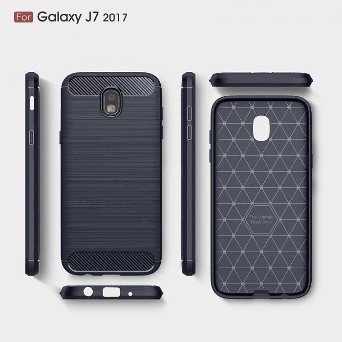 Husa  Samsung Galaxy J7 2017 Tpu Carbon Fibre Brushed - albastru 5