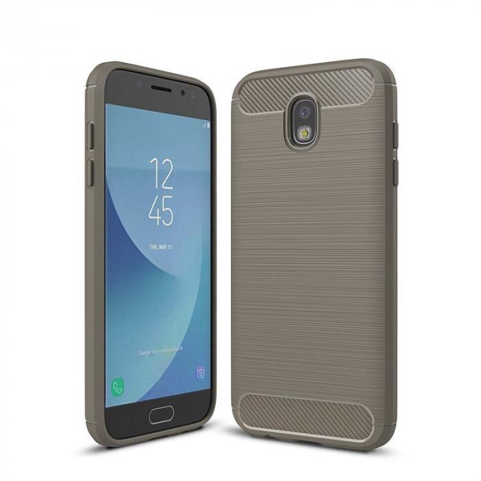 Husa  Samsung Galaxy J7 2017 Tpu Carbon Fibre Brushed - gri 0