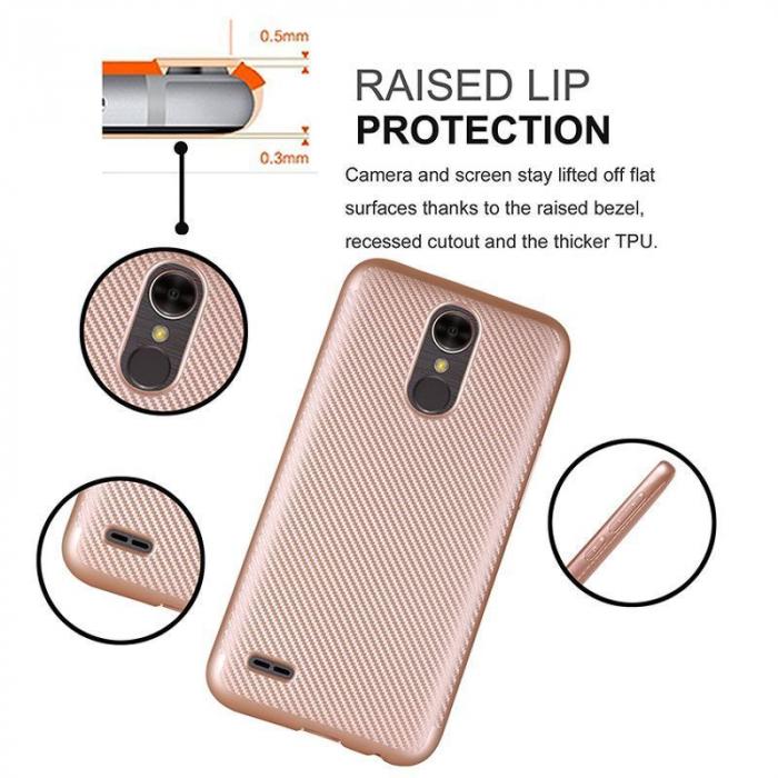 Husa LG K10 (2017) Tpu Carbon - argintiu 5