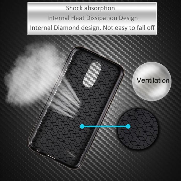Husa LG K10 (2017) Tpu Carbon - argintiu 2