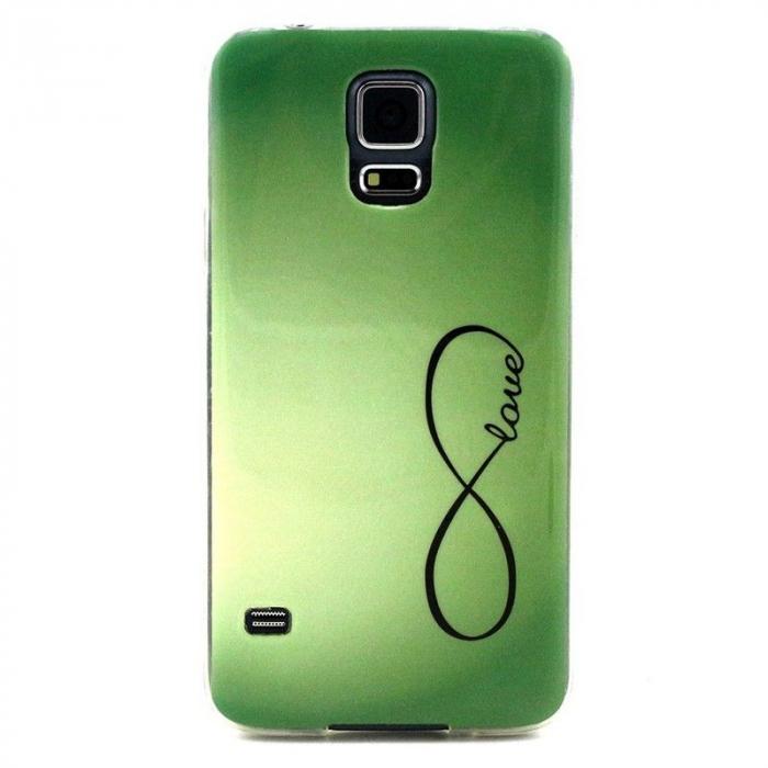 Husa TPU Green Love Samsung Galaxy S5 [0]