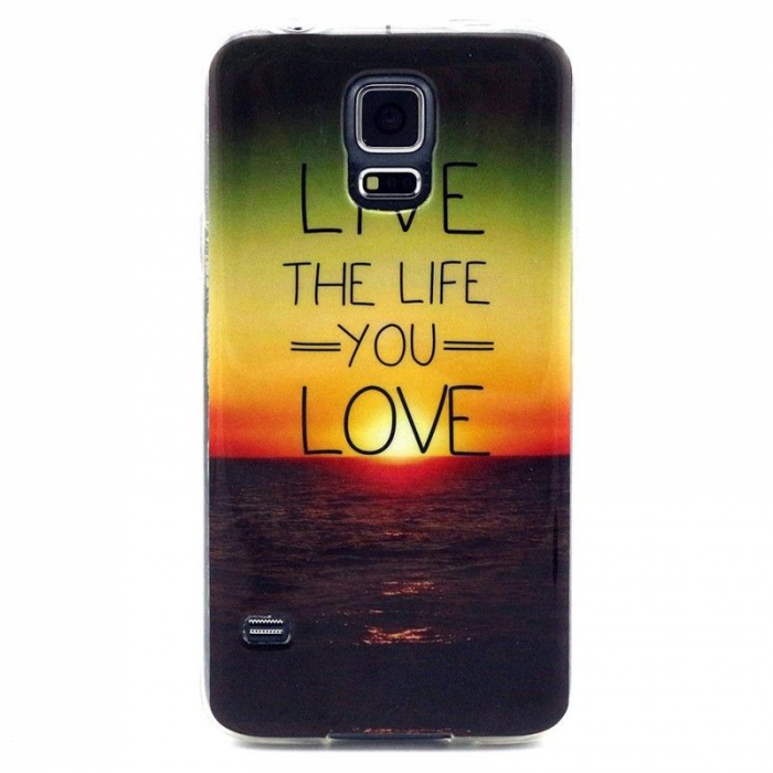Husa TPU Live the Life Samsung Galaxy S5 0