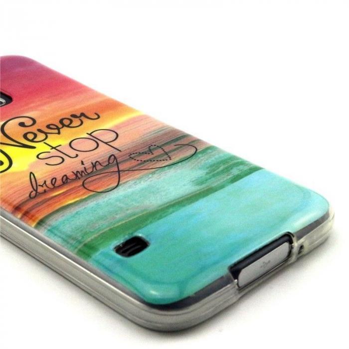 Husa TPU Never Stop Dreaming 2 Samsung Galaxy S5 3