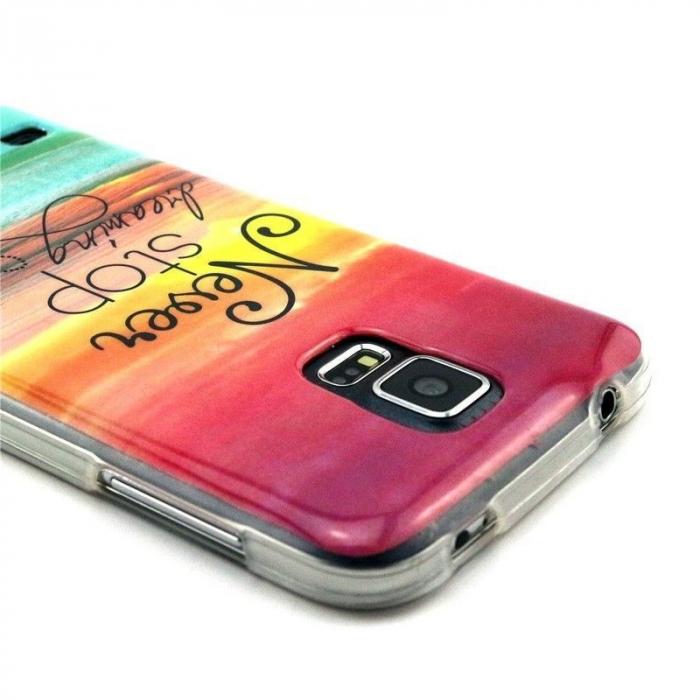 Husa TPU Never Stop Dreaming 2 Samsung Galaxy S5 2