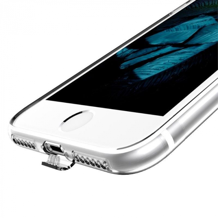 Husa  Iphone 7 - Usams Ultra Thin Soft TPU - argintiu transparent 4