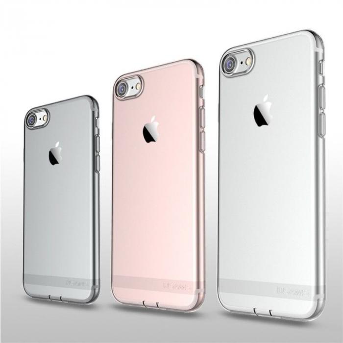 Husa  Iphone 7 - Usams Ultra Thin Soft TPU - argintiu transparent 5