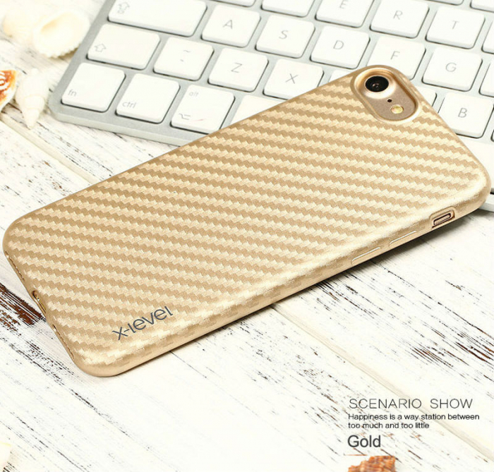 Husa iPhone 7 / iPhone 8  X-level Color Fiber - gold 2