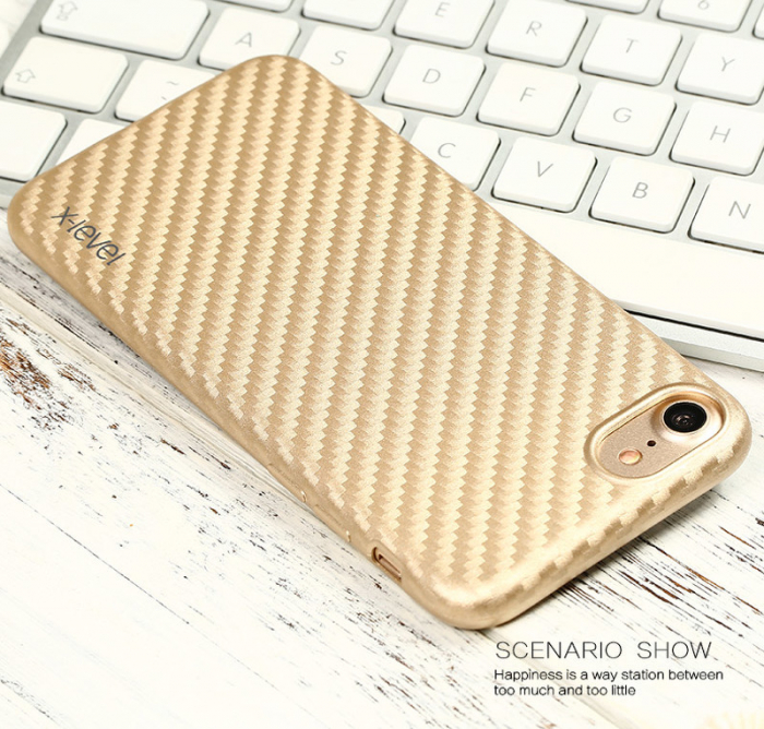 Husa iPhone 7 / iPhone 8  X-level Color Fiber - gold 1
