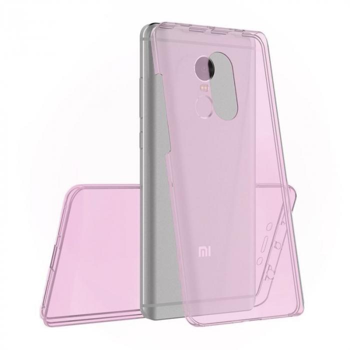 Husa  Xiaomi Redmi Note 4 / Note 4X Silicon TPU 360 grade - rose-gold 0