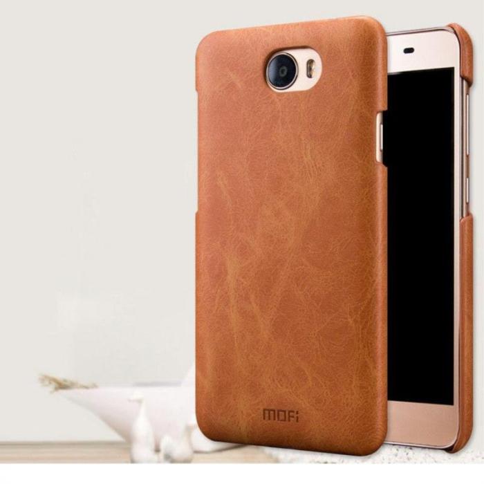 Mofi Leather Hard Case Huawei Y5II - maro 2