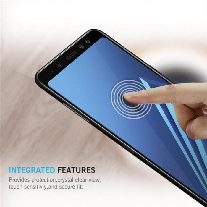 Sticla Securizata 5D Full Glue Samsung Galaxy A8 2018 - margini negre 2