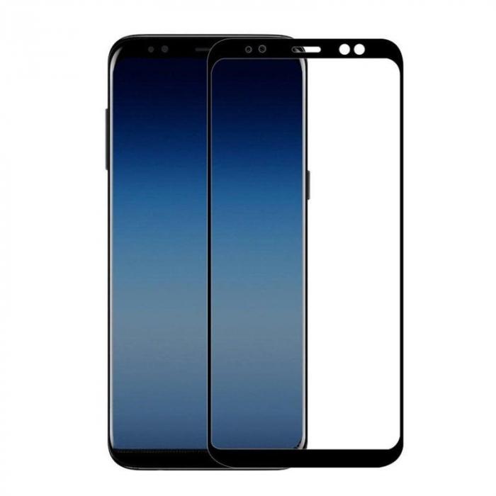 Sticla Securizata 5D Full Glue Samsung Galaxy A8 2018 - margini negre 0