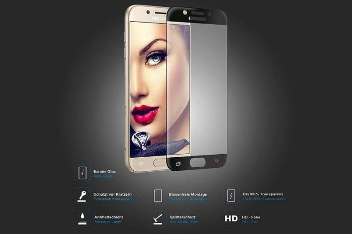 Sticla Securizata 5D Full Glue Samsung Galaxy J7 2017 - negru 1