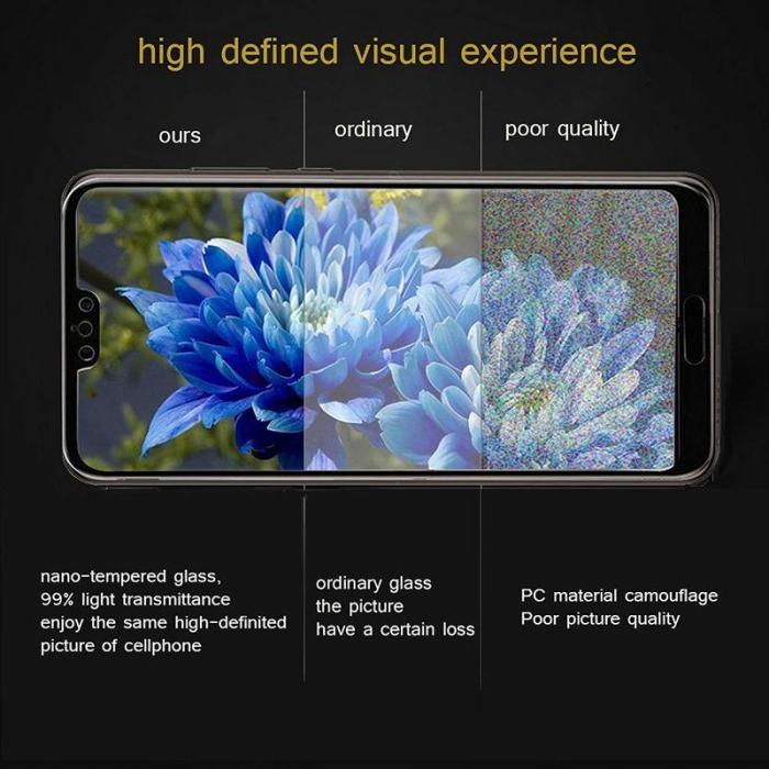 Sticla Securizata 5D Full Glue Huawei P20 - margini negre 5