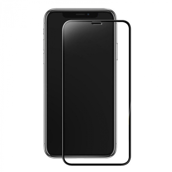 Sticla Securizata 5D Full Glue iPhone X - margini negre 0