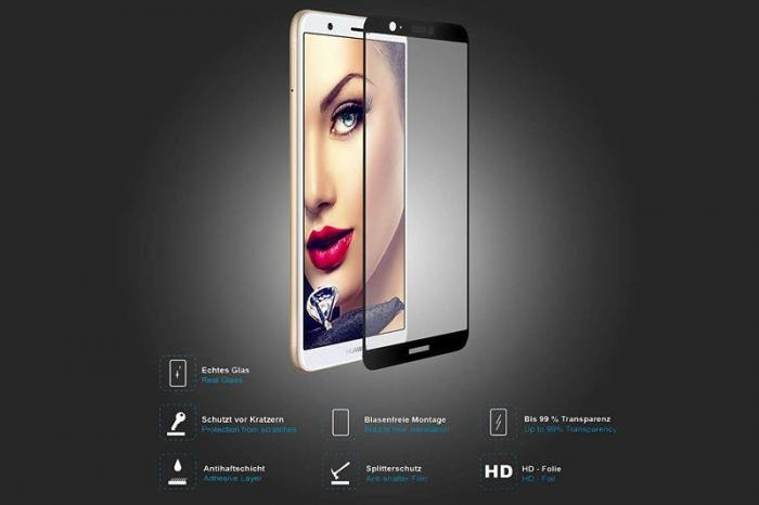 Sticla Securizata Full Screen Huawei P Smart / Enjoy 7S - negru 1