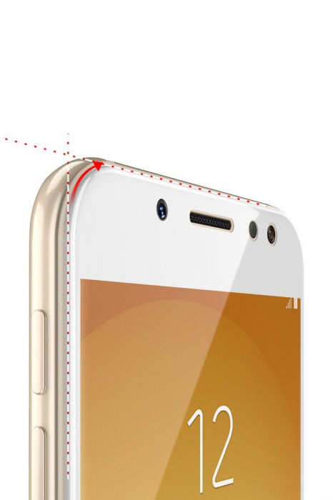 Sticla Securizata 5D Full Glue Samsung Galaxy J5 2017 - alb  2