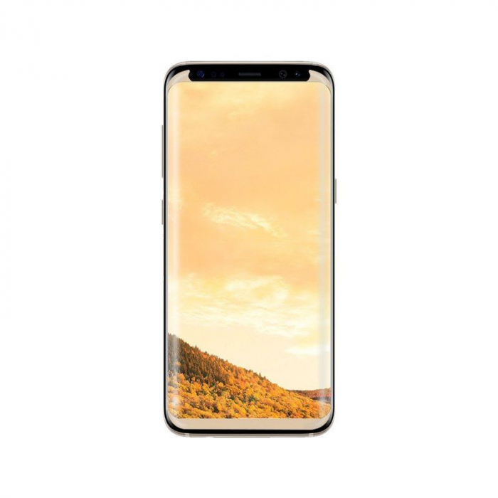 Sticla Securizata Samsung Galaxy S8 Full Screen Case Friendly - margini gold 2