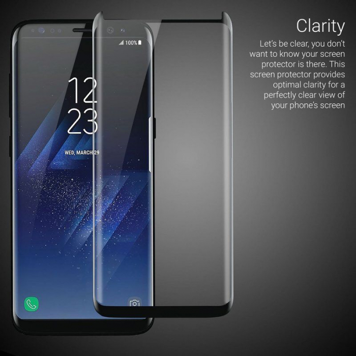 Sticla Securizata Samsung Galaxy S8 Full Screen Case Friendly - margini gold 5