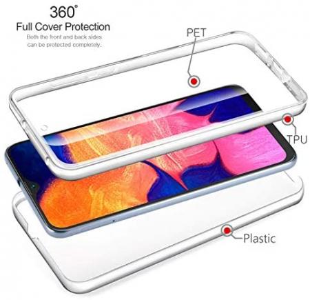 Husa Samsung Galaxy A20E Silicon TPU 360 grade (fata - spate) - transparent [1]