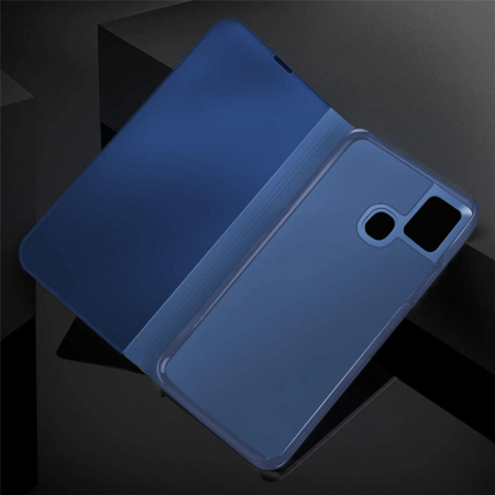 Husa Samsung Galaxy A21S – Flip Clear View – Albastru [1]