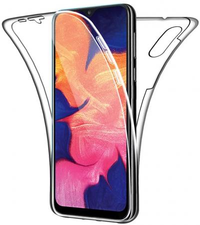 Husa Samsung Galaxy A10 Silicon TPU 360 grade (fata - spate) - transparent [1]