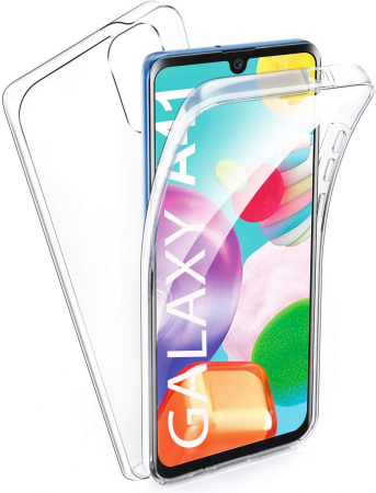 Husa Samsung Galaxy A41 Silicon TPU 360 grade (fata - spate) - transparent [0]