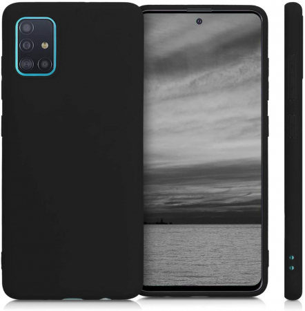 Husa Samsung Galaxy A51 Silicon Matte TPU Extra Slim – negru [3]