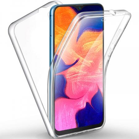 Husa Samsung Galaxy A10 Silicon TPU 360 grade (fata - spate) - transparent [3]