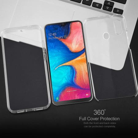 Husa Samsung Galaxy A20E Silicon TPU 360 grade (fata - spate) - transparent [2]